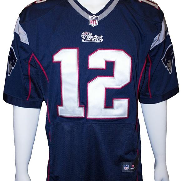 sale retailer a5da2 d7df9 Classic Logo New England Patriots #12 Brady jersey NWT